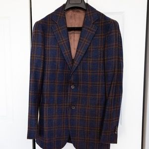 Suitsupply Blue Check Havana Jacket - 36R